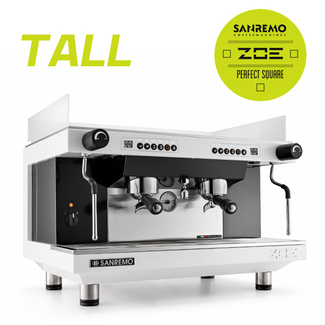 SANREMO  Zoe competition  tall  雙孔營業機 220V (白黑)
