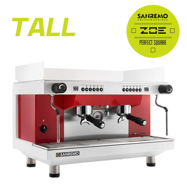 SANREMO  Zoe competition  tall  雙孔營業機 220V (白紅)