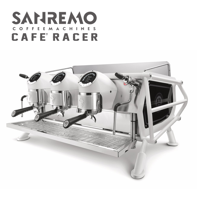 SANREMO CAFE RACER FULL WHITE 三孔營業用咖啡機 220V