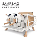 SANREMO CAFE RACER WHITE & WOOD STANDARD 雙孔營業用咖啡機 ( 經典率性版 ) 220V