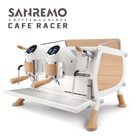 SANREMO CAFE RACER WHITE & WOOD SLIM 雙孔營業用咖啡機 ( 窄版 ) 220V